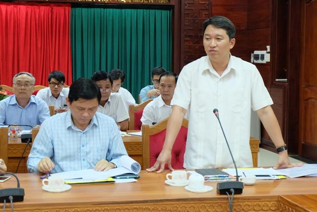 Phó Chủ tịch Thường trực UBND tỉnh Nguyễn Hải Ninh phát biểu tại cuộc họp