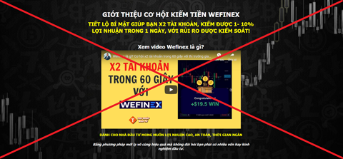 """Cảnh giác kẻo mắc """"bẫy"""" lừa đảo của Wefinex.net - Daklak24h"""